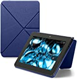 Amazon Kindle Fire HDX 8.9 Standing Leather Origami Case (3rd generation - 2013 release), Blue