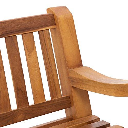 Trueshopping Kingsbridge Garten Bank – Teak Holz Klassische Design Zwei Sitzbank - 5