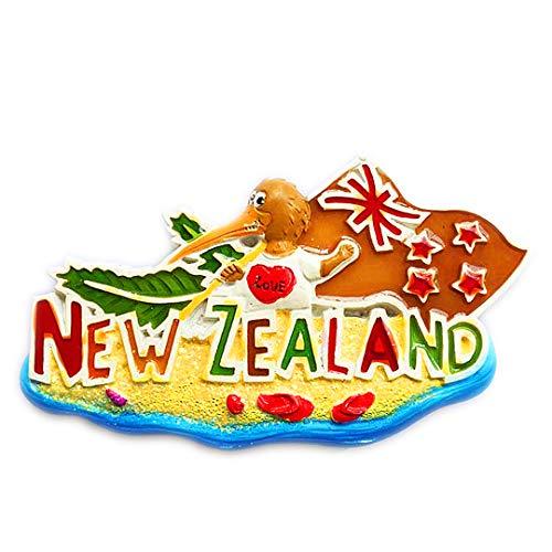 Nationalen Vogel Kiwi Neuseeland 3D Kühlschrank Kühlschrankmagnet Travel City Souvenir Collection Küche Dekoration White Board Aufkleber Harz