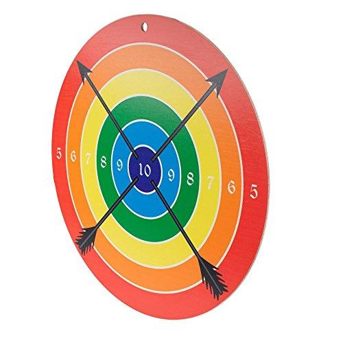 Spielzeugmanufaktur VAH - Stabile Zielscheibe für Bögen und Armbrüste mit Saugpfeilen [Pappelholz, 41 cm Durchmesser, Zum Aufhängen] Made in Germany (Sport-armbrust Zubehör)