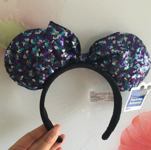 New Disney Parks Minnie Maus Mehrere Pailletten Ohren Schleife Haarband Party Kostüm