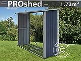 Dancover Holzlager 2,42x0,89x1,56m ProShed, Anthrazit