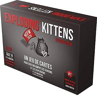 Exploding Kittens Chatons explosent Jeu de Cartes Boîte Noire - Version française