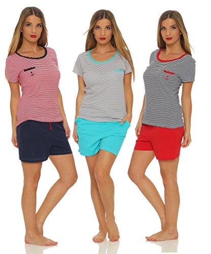 Kurzer Damen-Pyjama sommerlicher Schlafanzug in 7 verschiedenen Modellen