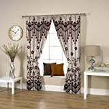 Threadmix Polyester Brown Window Curtain...