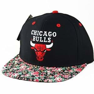 Chicago Bulls Custom Floral Snapback Hat cap Casquette