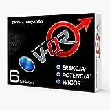 V-QR POTENZ KOMPLEX | 6 Tabletten (Vegan) | EXTREM STARKE DOSIERUNG | Natürliches Potenzmittel + Testosteron-Booster | Tribulus | Maca | Ginseng | Arginin | Koffein | Zur Unterstützung der sexuellen Leistungsfähigkeit und Ausdauer
