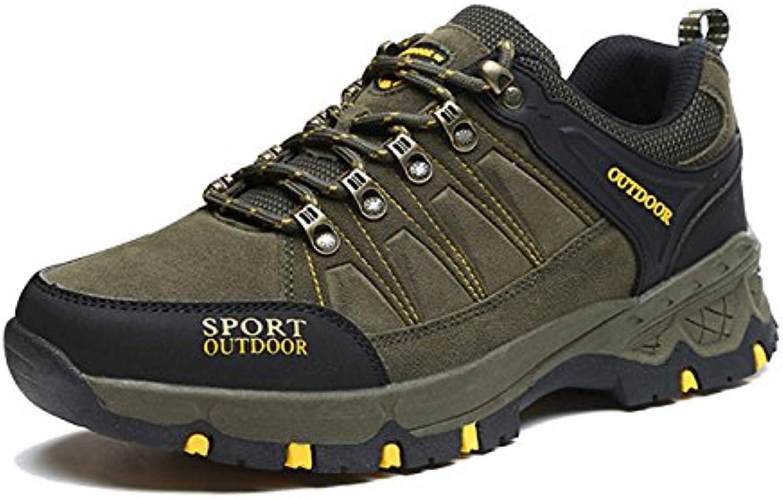 CHNHIRA Herren Trekking Wanderschuhe Wasserdicht Stiefel (EU 42  Gruumln)
