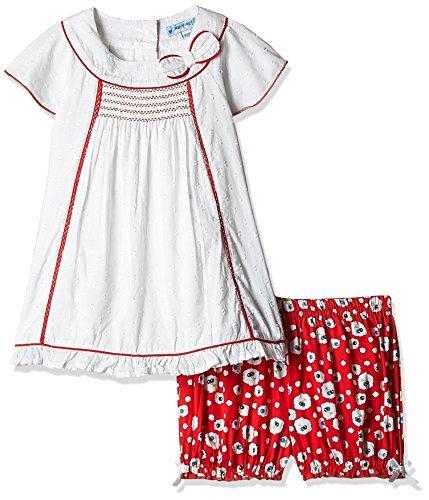 Nauti Nati Baby Girls' Clothing Set (NSS16-104_Red and White_12-18M)