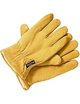 Dickies 'Lined' Leather Gloves. Tan.