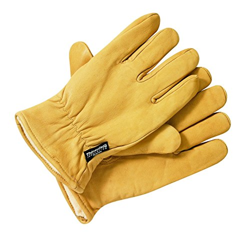 Dickies, Guanti Uomo Lined Leather Gloves, Marrone (Tan), XL