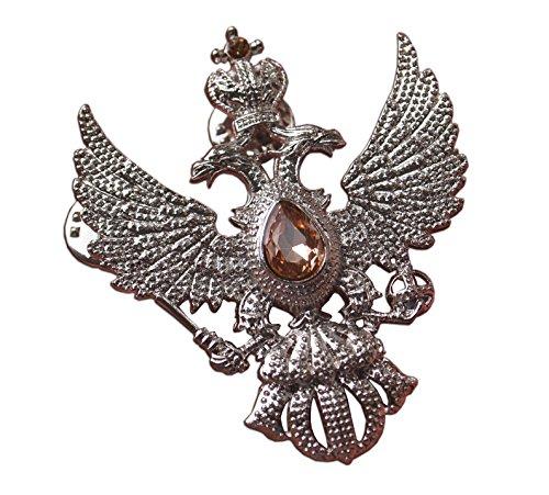 Ruso Noble Double Headed Eagle insignia conmemorativa de la impresiona