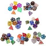 Gazechimp 49pcs Set de Dados Multi-Coloreado Números Numéricos Digitales Grandes Accesorios para Juegos