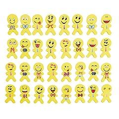 Idea Regalo - 60 pezzi Emoji Emoticon Gomma Cancellare Matita Bomboniera Regalo per bambini (stile-1)