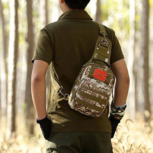 MagiDeal Monospalla Zaino Borsa A Tracolla Messenger Bag per Campeggio, Escursioni, Alpinismo, Ciclismo - #3 #5