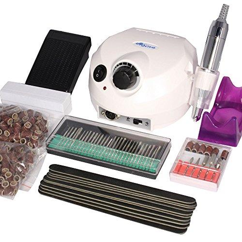 nagelfraser-set-nagelstudio-fur-pedikure-und-manikure-elektrische-nagelfeile-inkl-fusspedal-bit-set-