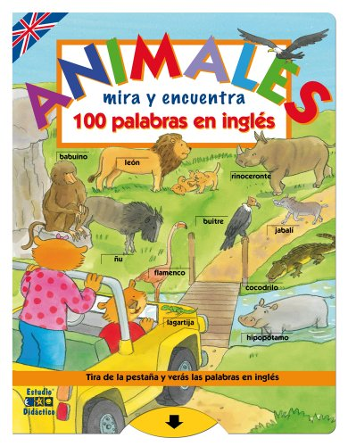 Animales 100 palabras en inglés (Mira y encuentra)