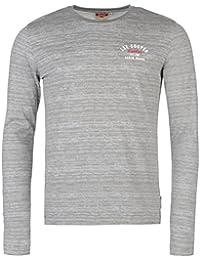 Lee Cooper Hommes C Tex T-Shirt Tee Top Decontracte Haut Col Rond Manche Longue