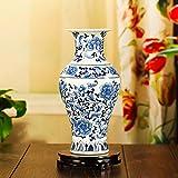 Maivace Keramische Vase dekorative Ornamente Blumen-Arrangement Keramik moderne, in Blau und weiß Porzellan Home Technologie