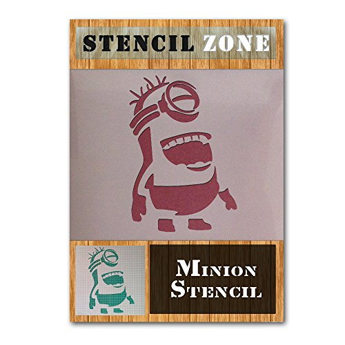 despicable-me-stuart-minion-mylar-airbrush-gemalde-art-wand-schablone-a3-size-stencil-medium