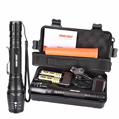 Preisvergleich Produktbild LED Flashlight 8000 Lumens, Xjp Aluminum Alloy Mini Zoomable Flahlight Kit with 18650 Battery, Charger, Case