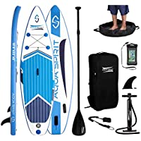 AQUA SPIRIT iSUP Inflatable Stand up Paddle Board for Adult Beginners/Intermediate with Backpack, Leash, Paddle, Changing Mat & Waterproof Phone Case