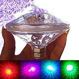 LED Badelichter Teichbeleuchtung Unterwasserbeleuchtung Unterwasserlicht mehrfarbig wasserdicht Discokugel für Kinder Baby Badewanne Spielzeug Schwimmende Glühbirne Party Dekoration