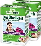 GreenDoc Bei Übelkeit Ingwer Lutschtabletten (2er Pack) | Bei Übelkeit, Brechreiz und Reisekrankheit