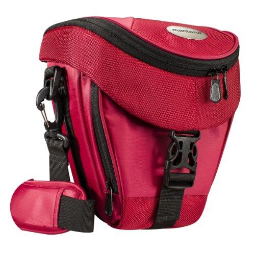 Mantona Premium - Funda para cámara reflex (correa para hombro, cierre de cremallera y clip), color