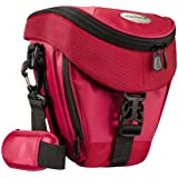 Mantona Colt Premium Sac pour caméra SLR (sac universel incl. accès rapide, protection contre la poussière, sangle de transport et compartiment pour accessoires) rouge