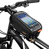 Ibera Fahrrad-Lenkertasche, Fahrradtasche, Oberrohrtasche, Rahmen Wasserdicht , Handytasche für 6