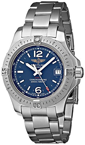 Breitling Colt Lady Blue Dial Stainless Steel Mens Watch A7738811-C908SS