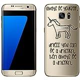 Samsung Galaxy S7 Edge cas par licaso® pour le modèle Be a Unicorn Licorne Conte de Fées TPU Samsung S7 Edge silicone ultra-mince Protégez votre Samsung S7 Edge est élégant et couverture voiture cadeau