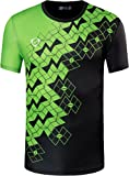 jeansian Jungen Active Sportswear Quick Dry Short Sleeve Breathable T-Shirt Tee Tops LBS706_Black XL