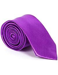 Klassische Seiden Krawatte Uni Farbe Business Satin Schlips Binder Fliege 10cm