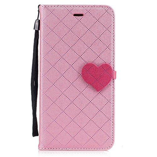 iPhone 7 Plus Custodia, iPhone 7 Plus Cover Wallet, SainCat Custodia in Pelle Cover per iPhone 7 Plus, Anti-Scratch Protettiva Caso Elegante Creativa Dipinto Pattern Design PU Leather Flip Portafoglio rosa