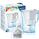 BRITA, Carafe Filtrante, Navelia, 2.4L, 1 Cartouche Filtrante Maxtra incluse - Blanc