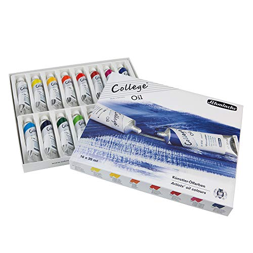 Schmincke College Karton-Set 16 x 35 ml Öl 85 001 097 Ölfarben Set College-set