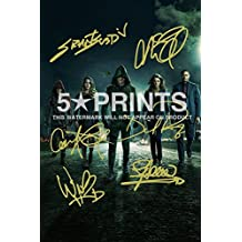"""Arrow Poster Photo Signed PP 12x8"""" 6 Cast Autographs Stephen Amell Grant Gustin Caity Lotz David Ramsey Willa Holland Katie Cassidy Autograph Print Style E"""