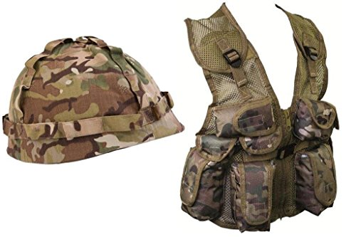 Kids Army Gift Set , British Forces Military Commando Camouflage camo (Set ()