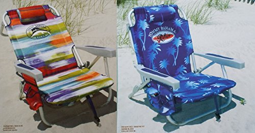 2-tommy-bahama-2015-backpack-cooler-chairs-with-storage-pouch-and-towel-bar-1-multicolor-and-1-blue-