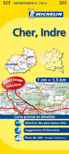 CHER / INDRE 11323 CARTE ' LOCAL ' ( France ) MICHELIN KAART (KAARTEN/CARTES MICHELIN)