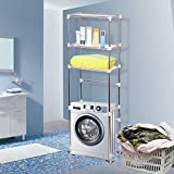 3-Schicht-Waschmaschinenregal WC-Regal Toilettenregal für Badezimmer, 68 * 28 * 165cm(Waschmaschinenregal)