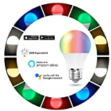 Smart-LED-Leuchtmittel, Handy, Farbe Tunable Smart 5W-Glühbirne, 40W, kompatibel mit Alexa und Google Assistant