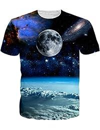 NEWISTAR unisexe imprimé 3d manches courtes T-shirt manches courtes