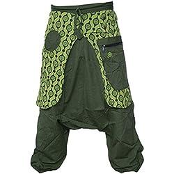 Little Kathmandu Pantalones para hombre bombachos de entrepierna suelta estilo Aladino verde verde S