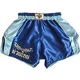 KM Muay Thai Hose Kickboxen MMA Gym Shorts Damen Herren Large (Waist 30')