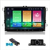 Android 8.0 Auto Stereo Doppel 2 DIN 22,9 cm Kapazitiven Touchscreen IPS-Panel GPS Navigation System für VW Volksvagen Golf Passat Tiguan Polo Jetta Skoda Seat Octa-Core 4 G RAM 32 G ROM