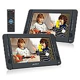 PUMPKIN Lecteur DVD Portable Voiture Double Ecran d'appuie-tête pour Enfant 10,1...