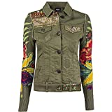 Desigual Damen Jacke, Farbe:dunkelgrün;Größe:40